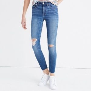 "Madewell 9"" high rise skinny crop jeans Bruce wash"